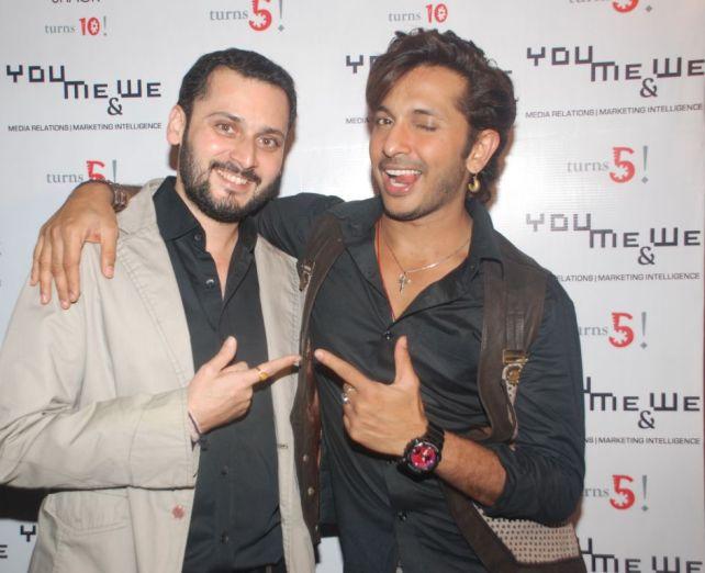 L-R Dipankar Zalpuri (host) and Terence Lewis @ YouMe&We PR 5th Anniversary bash (2)