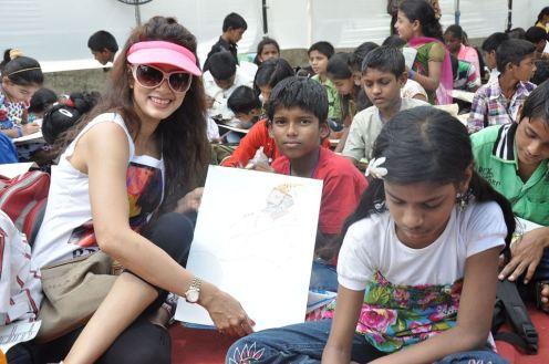 Vidya Malavade with Kids