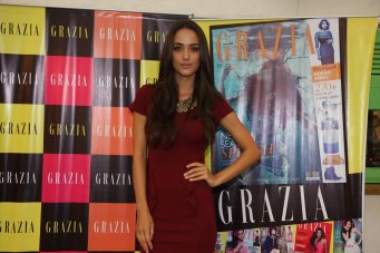 Angela Jonsson at the Grazia Underwater cover shoot launch at Oive, Mahalaxmi.,,..