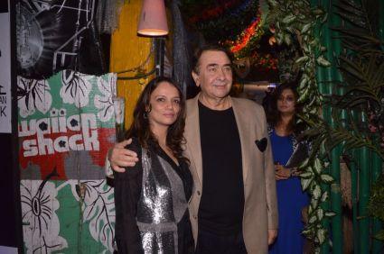 01-Sadhna Romy,owner Hawaiian Shack with actor Randhir Kapoor@ The Global Party,Hawaiian Shack,Bandra
