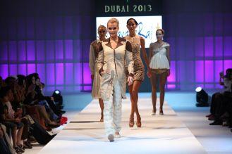 A Model showcasing Karan Raj's design at the finale of 'Fashion Me 2013' in Dubai,,.