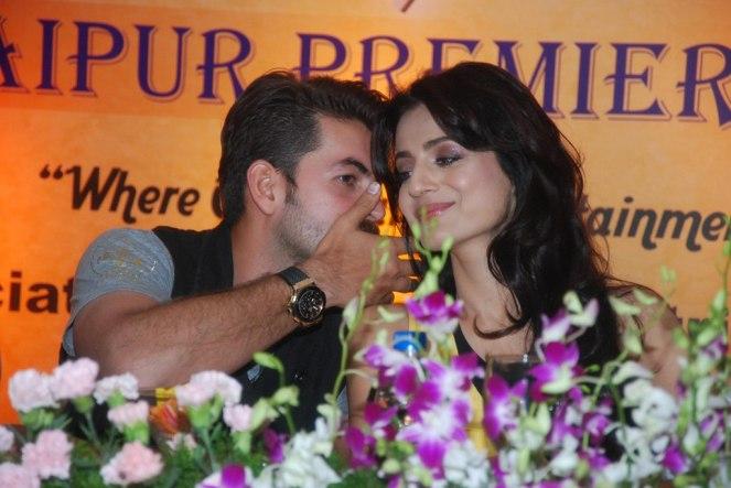 Shortcut Romeo stars Neil Nitin Mukesh & Ameesha Patel at the Launch of 'Jaipur Premier League' Season-2 ...