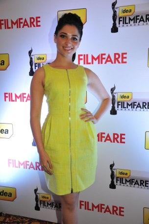 Tamanna at the '60th Idea Filmfare Awards 2012' (South) Press conference.,