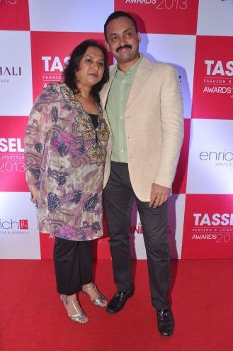 01 Mamta & Vivek Gautam, Directors INIFD, Andheri @ Tassel Fashion & Lifestyle Awards 2013