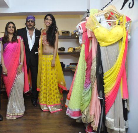 05-(L to R) Designer Shouger Merchant Doshi,Jackie Shroff,Sarah Jane Dias@Zanaaya Couture Store Launch,Kemps Corner