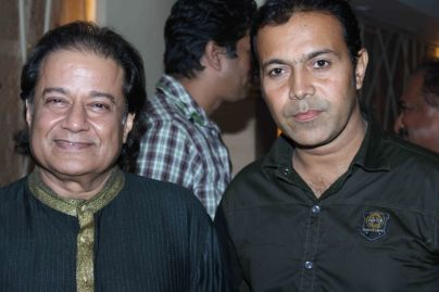 Anup Jalota With Erif Ahmed At Music Launch