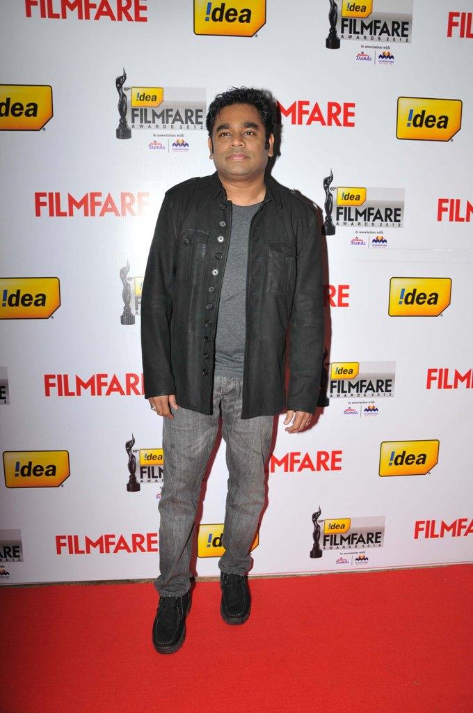 AR Rahman on the Red Carpet of '60the Idea Filmfare Awards 2012(South)
