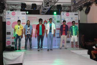 Models walking the ramp at the fashion show at the 'Femina Carnival 2013' at Hyatt Regency, Pune