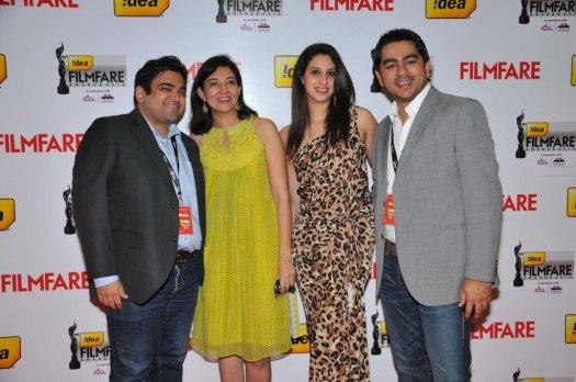 Neil Sanghvi, Anupama Bhalla, Rukhsaar Deboo & Sajjad on the Red Carpet of '60the Idea Filmfare Awards 2012(South)