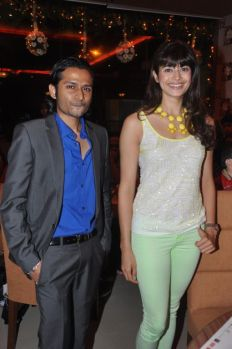 Pooja Batra with Roman Sen posing at the launch of Yoko Sizzlers