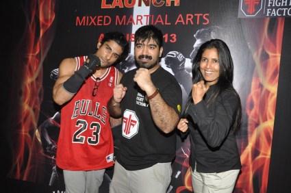 2. L - R Prateik_ Shiva Malani_ Althea Shah, VP Marketing & Fitness Expert for MMA @ Gold's Gym Bandra
