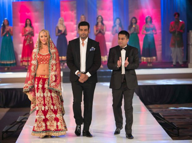 Designer Asif Shah with Indian Entrepreneur Style Icon Award winner Mr. Waahiid Ali Khan walked the ramp after the AGF show in Las Vegas.