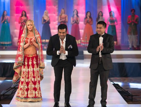 Designer Asif Shah with Indian Entrepreneur Style Icon Award winner Mr. Waahiid Ali Khan walked the ramp after the AGF show in Las Vegas..