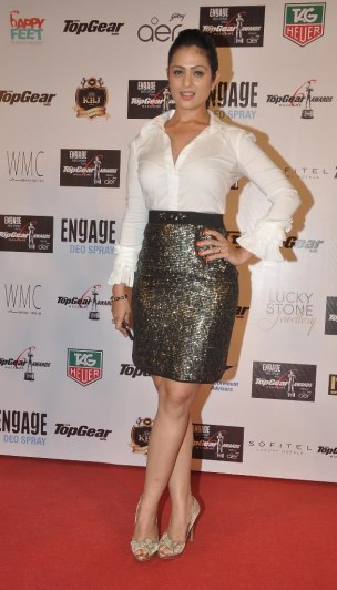 Anjana Sukhani at the '6th TopGear Awards 2013' at Sofitel, Mumbai