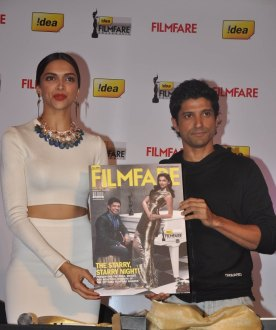 Deepika Padukone & Farhan Akhtar launched the 59th Idea Filmfare Awards Special issue at JW Marriott.7