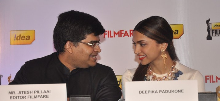 Editor Jitesh Pillaai & Deepika Padukone launched the 59th Idea Filmfare Awards Special issue at JW Marriott.1
