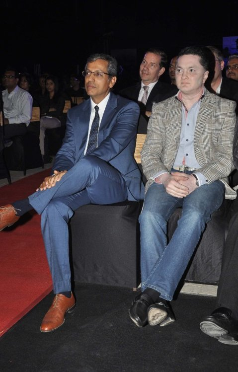 Mr. Tarun Rai & Gautam Singhania at the '6th TopGear Awards 2013' at Sofitel, Mumbai