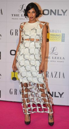 Anushka Manchanda at the Red Carpet of Grazia Young Fashion Awards 2014 at the Leela, Mumbai