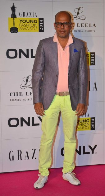 Designer Narendra Kumar at the Red Carpet of Grazia Young Fashion Awards 2014 at the Leela, Mumbai