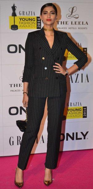 Sonam Kapoor at the Red Carpet of Grazia Young Fashion Awards 2014 at the Leela, Mumbai