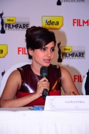 Samantha Prabhu at the '61st Idea Filmfare Awards 2013' (SOUTH) Press Conferenece at Taj Krishna in Hyderabad.12
