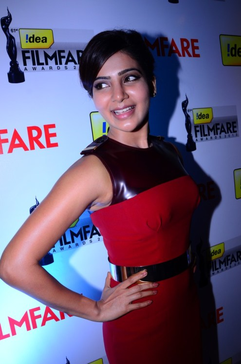 Samantha Prabhu at the '61st Idea Filmfare Awards 2013' (SOUTH) Press Conferenece at Taj Krishna in Hyderabad.15