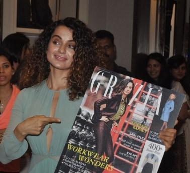 Kangana Ranaut launched the Grazia Magazine Cover at Burbberry.1