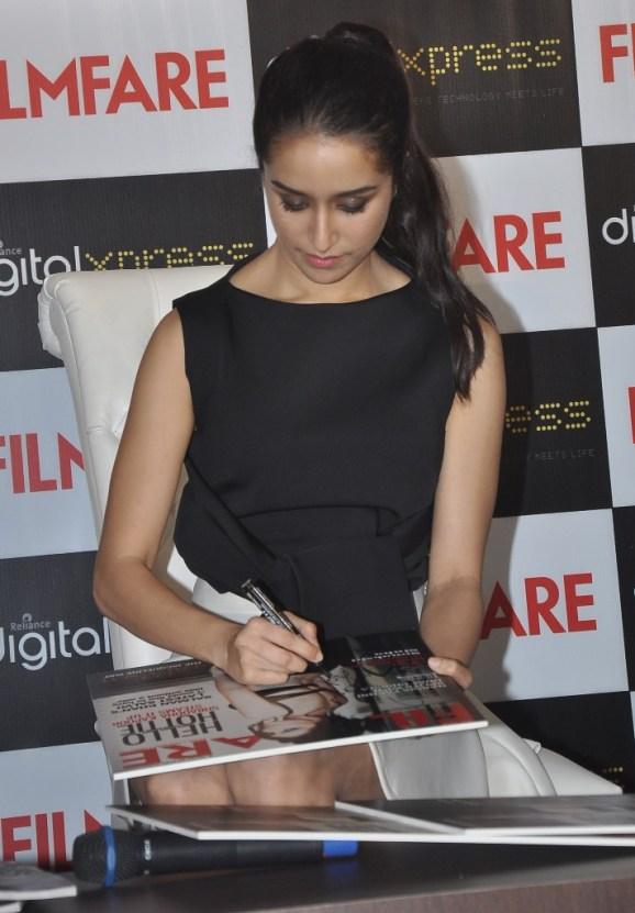 Shraddha Kapoor at the Filmfare Magazine cover launch at Reliance Digital, Prabhadevi.15