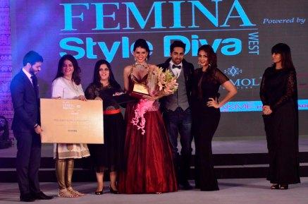 Siddhi Winner of 'Femina Style Diva 2014'.