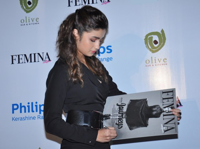 Alia Bhatt graced the cover launch of Femina's 55th Anniversary issue at Guppy by Olive.5