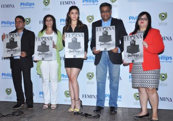 Alia Bhatt graced the cover launch of Femina's 55th Anniversary issue at Guppy by Olive..