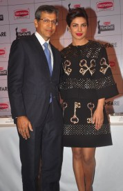 Mr. Tarun Rai, (Chief Executive Officer, WWM) & Priyanka Chopra at the Press Conference of '60th Britannia Filmfare Awards 2014' at JW Marriot, Mumbai.1
