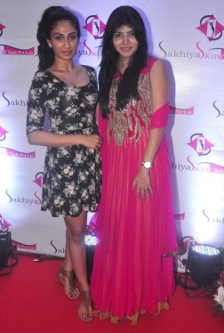 Deepti Sati (Femina Miss India) & Dr. Sharmila Nayak at the 'Sakhiya skin Clinic' Launch in Mumbai