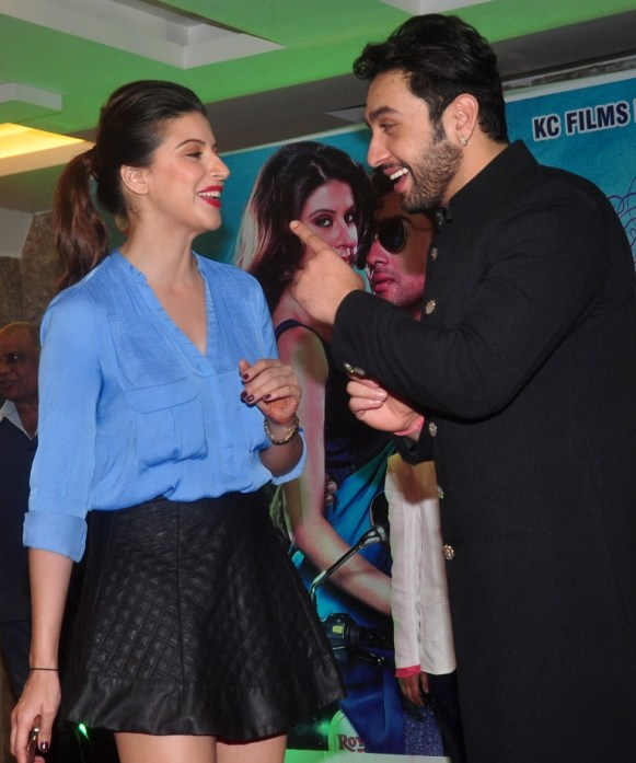 Karishma Kotak & Adhyayan Suman at the First Look & Music Launch of film Luckhnowi Ishq.3