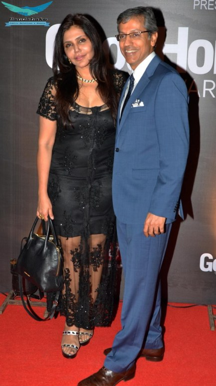 Nisha JamVwal & Mr. Tarun Rai (CEO, WWM) at the Red Carpet of GoodHomes Awards 2014 at Sofitel,BKC