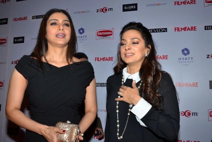 Tabu & Juhi Chawla at the Red Carpet of '60th Britannia Filmfare Awards 2014' Pr Awards Party at Hyatt Regency
