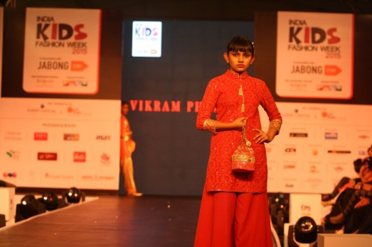 Children walk the ramp for designer Vikram Phadnis at IKFW 2015