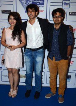 Starcast of Movie 'Thoda Luft Thoda Ishq' Neha Pawar, Hiten Tejwani & Sachin (Director) at the 'Lonely Planet Travel Awards 2015' at JW Marriot Saha
