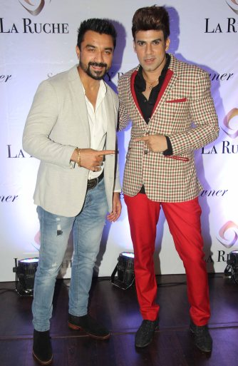 Ajaz Khan & Rajeev Khinchi at the Six Months Completion Celebration of La Ruche, Bandra