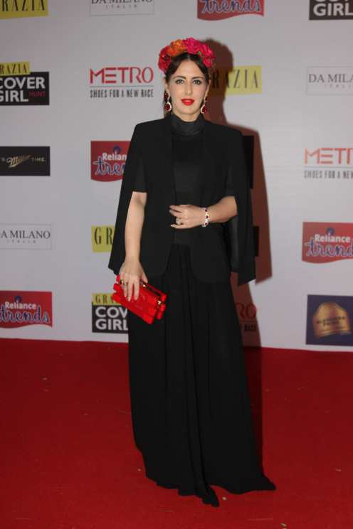 Pria Kataria Puri at the Red Carpet of Grazia Cover Girl Hunt at Tote on the Turf