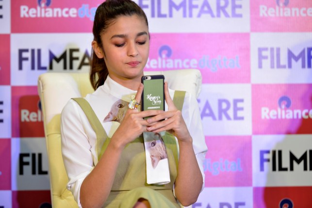 Alia Bhatt at the Filmfare Magazine Cover page launch held at Reliance Digital, Juhu.4
