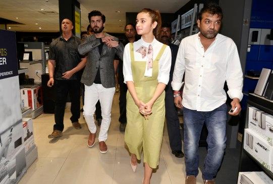Alia Bhatt & Fawad Khan at the Filmfare Magazine Cover page launch held at Reliance Digital, Juhu.8