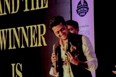 Ritesh Deskmukh receiving Ghanta awards in 2014