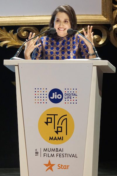 Anupama Chopra, Director, MAMI, speaks during the opening ceremony of the 18th Jio MAMI Mumbai Film Festival with Star, at the recently restored over 100 year old Royal Opera House, in Mumbai, India on October 20, 2016. (Sherwin Crasto/SOLARIS IMAGES)