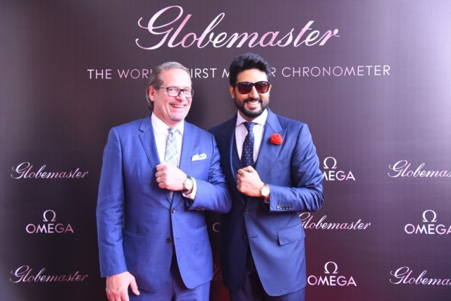 Abhishek Bachchan and Jean Claude Monachon