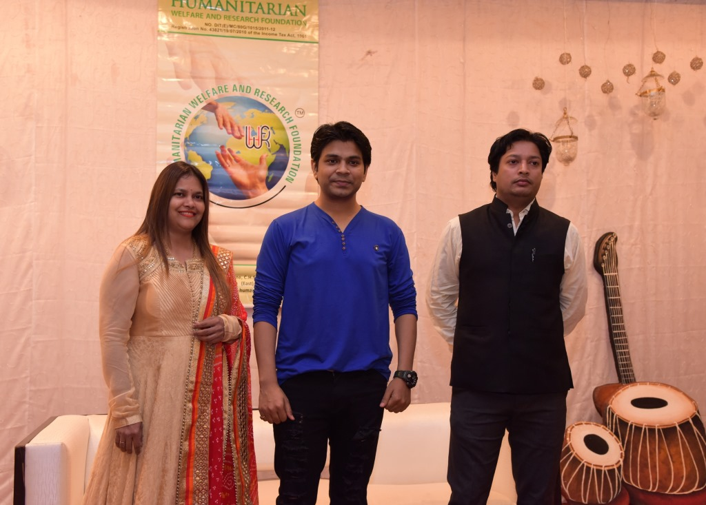 Christine, Founder Trustee - HWARF NGO, Ankit Tiwari, Singer & Music Director and Mr. Rakesh Kumar, Trustee Educationalist - HWARF NGO