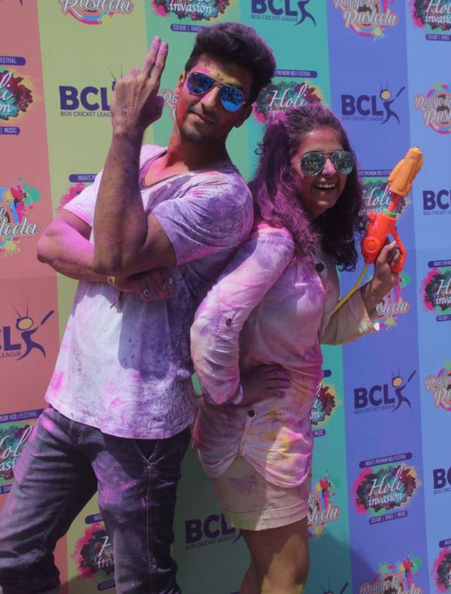 Manish R S and Avika Gor @ Holi Invasion