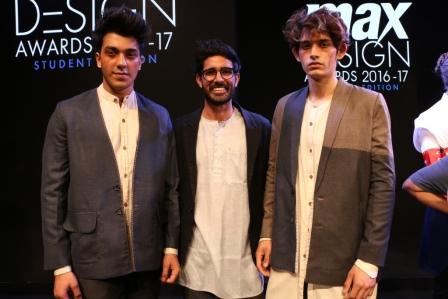 Winner Ankit Kajla with his designs