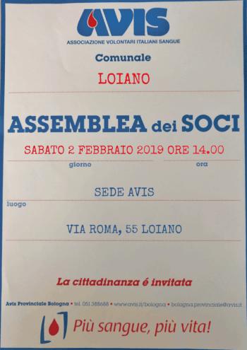 Assemblea 2019 Loiano @ Sede Avis Loiano