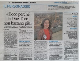 The Bolognese newspaper Il Resto del Carlino, one of the oldest in Italy, interview me in person and made a real nice article!
